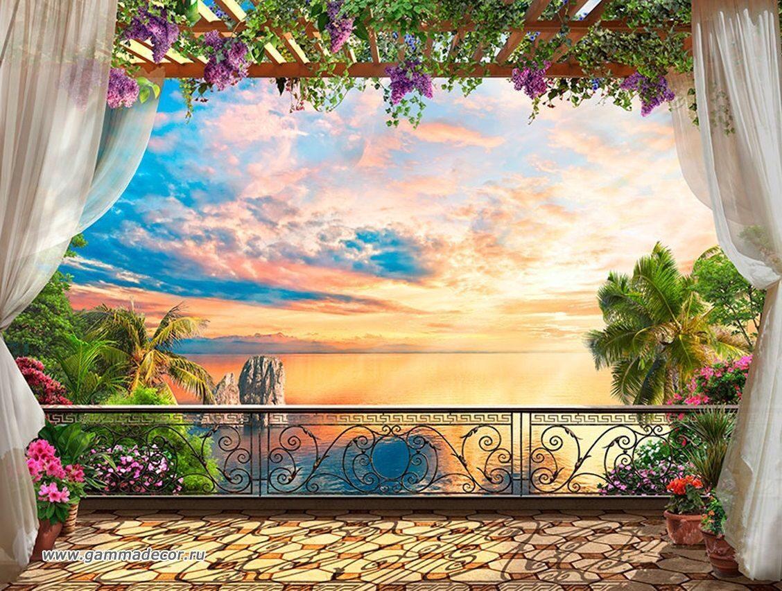 Фотообои зd. фрески морской пейзаж, цена 8 000 тг./кв.м, куп.