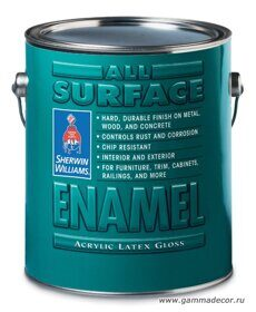 Эмаль Sherwin-Williams - ALL SURFACE ENAMEL Interior-Exterior Acrylic Latex 0,95л